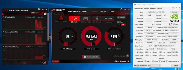 ASUS ROG STRIX O4G Gaming GTX 1650 - GPU-Z
