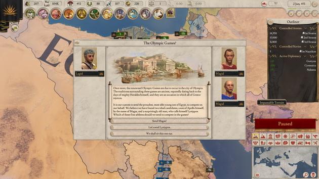 Imperator: Rome - olimpiada