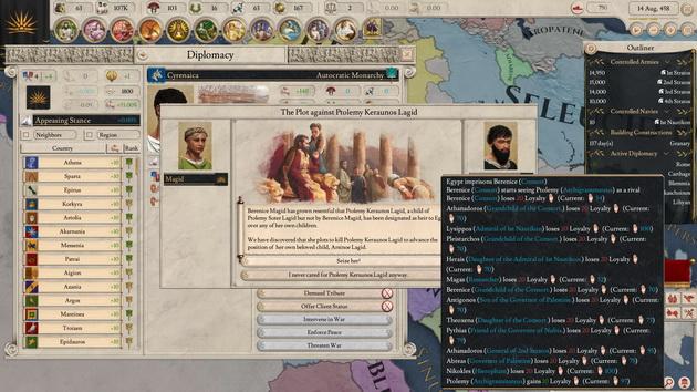 Imperator: Rome - dyplomacja