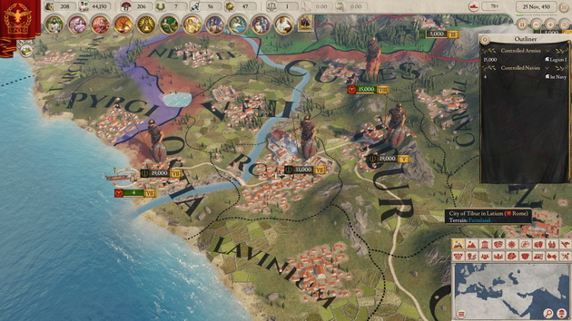 Imperator: Rome - jednostki na mapie