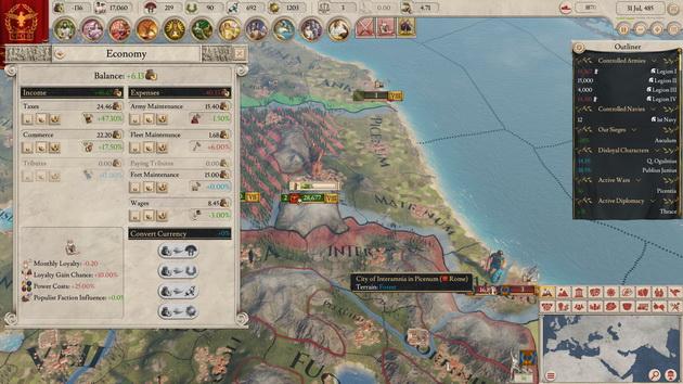 Imperator: Rome - ekonomia