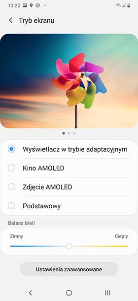 ustawienia kolorów ekranu