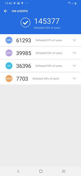Samsung Galaxy A50 - Antutu 7