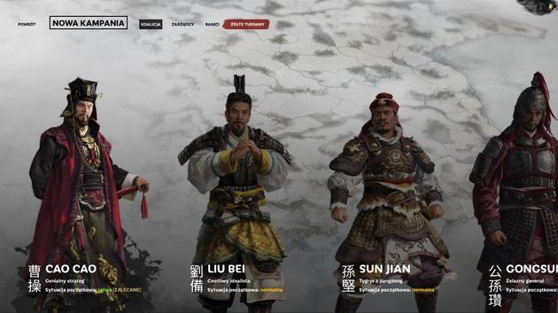 Total War: Three Kingdoms - dowódcy