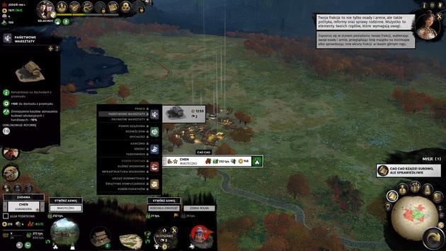 Total War: Three Kingdoms - rozbudowa miasta