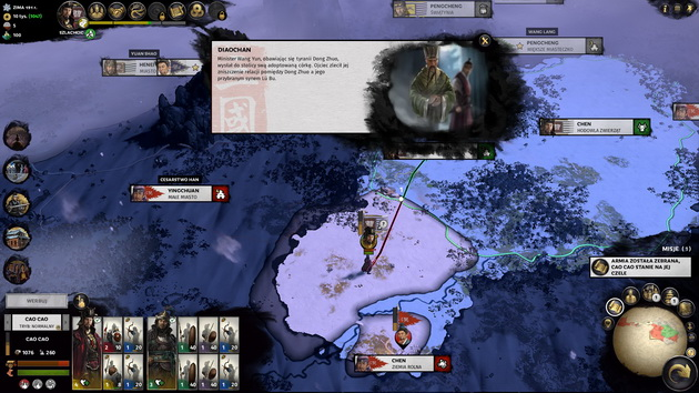 Total War: Three Kingdoms - czytelny interfejs