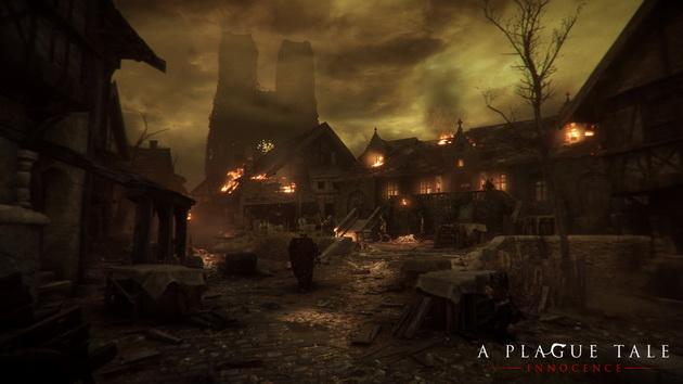 A Plague Tale: Innocence - spalone miasto