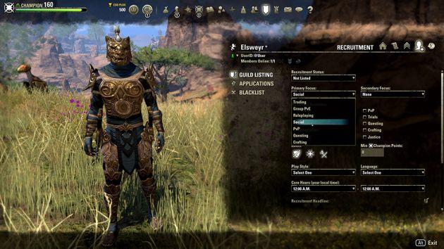 The Elder Scrolls Online: Elsweyr - wyszukiwarka guildii