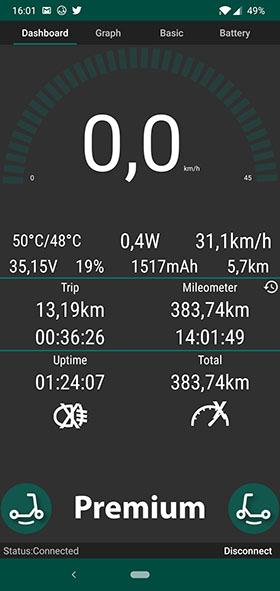 aplikacja do hulajnogi Xiaomi 1