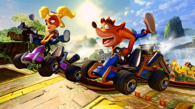 Crash Team Racing Nitro-Fueled - Coco i Crash w powietrzu