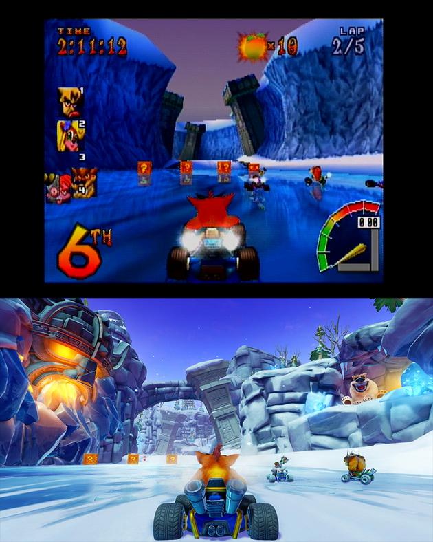 Crash Team Racing Nitro-Fueled - stara i nowa trasa Polar Pass