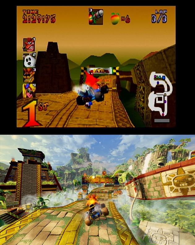 Crash Team Racing Nitro-Fueled - stara i nowa trasa Crash Cove