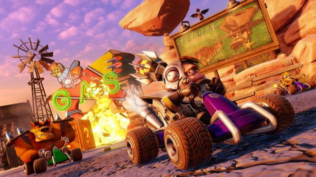 Crash Team Racing Nitro-Fueled - przeciwnik depcze po piętach