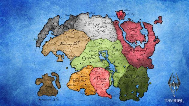 The Elder Scrolls - mapa Tamriel