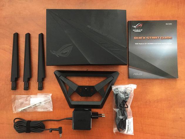 ASUS ROG GT-AC2900  zawartość opakowania