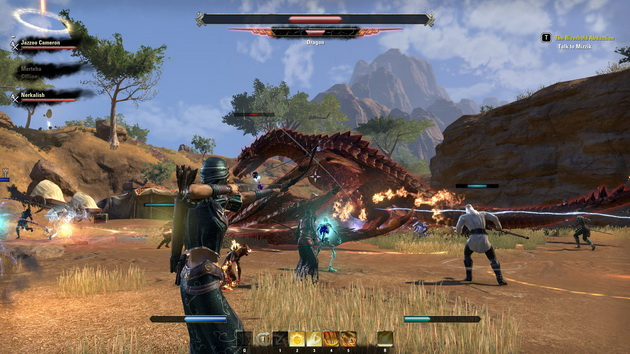 The Elder Scrolls Online - walka ze smokiem w Elsweyr