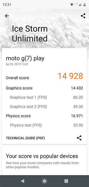 moto g7 play 3dmark ice storm unlimited