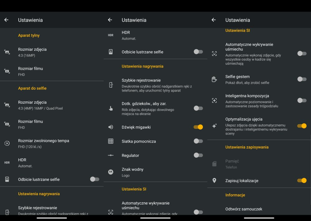 Motorola Moto G8 Power menu aparatu