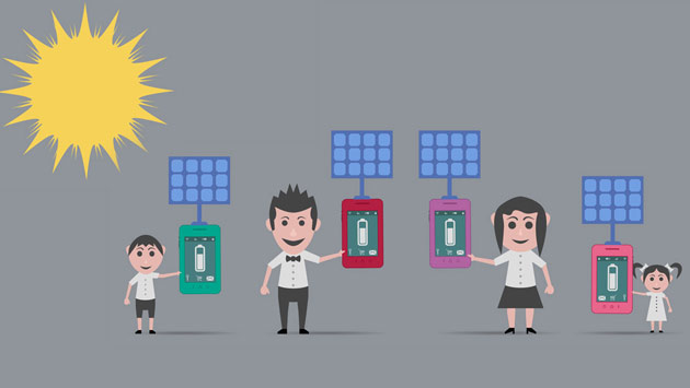 Ładowarki solarne do smartfona
