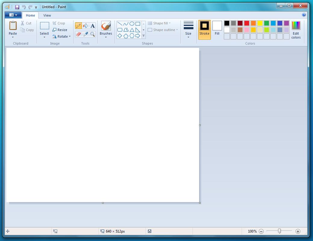 Paint w Windows 7