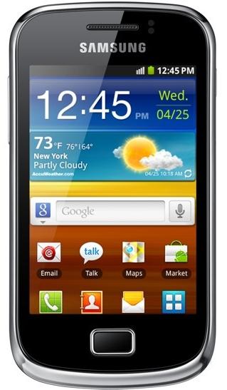 Samsung Galaxy Mini 2 smartfon wygląd front System operacyjny Android 2.3 Gingerbread TouchWi