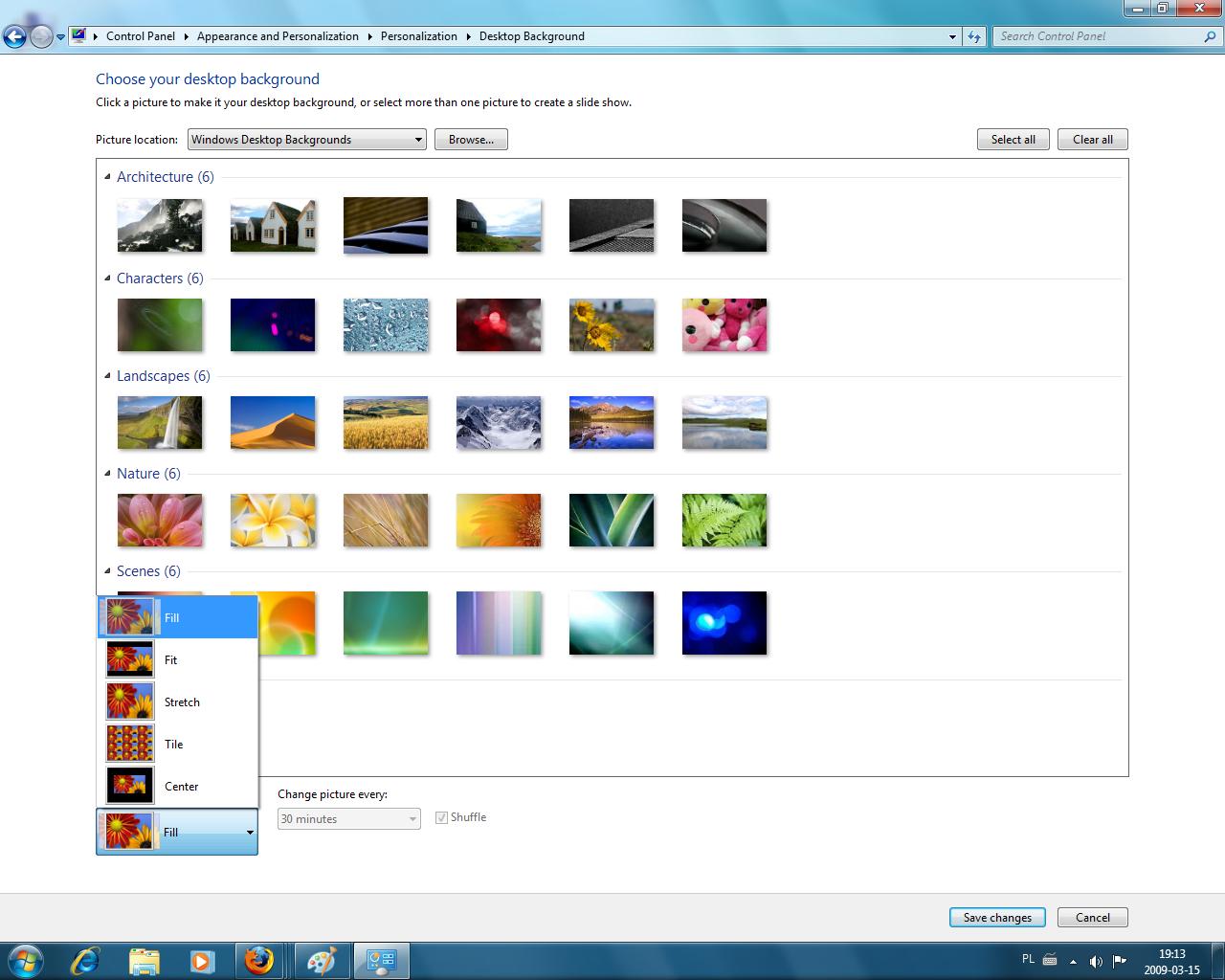 Tapety w Windows 7