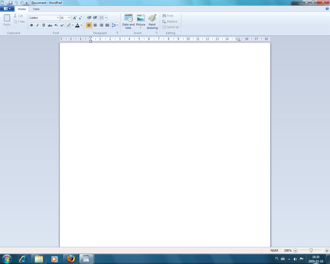 Wordpad w Windows 7