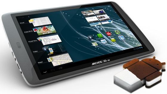 Archos 101 G9 Turbo tablet wygląd front ekran Android 4.0 Ice Cream Sandwich