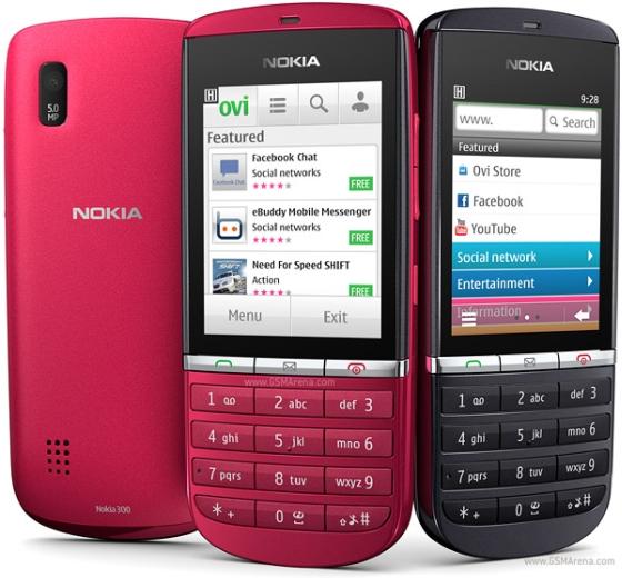 Nokia 300 Asha telefon wygląd wyświetlacz klawiatura front menu